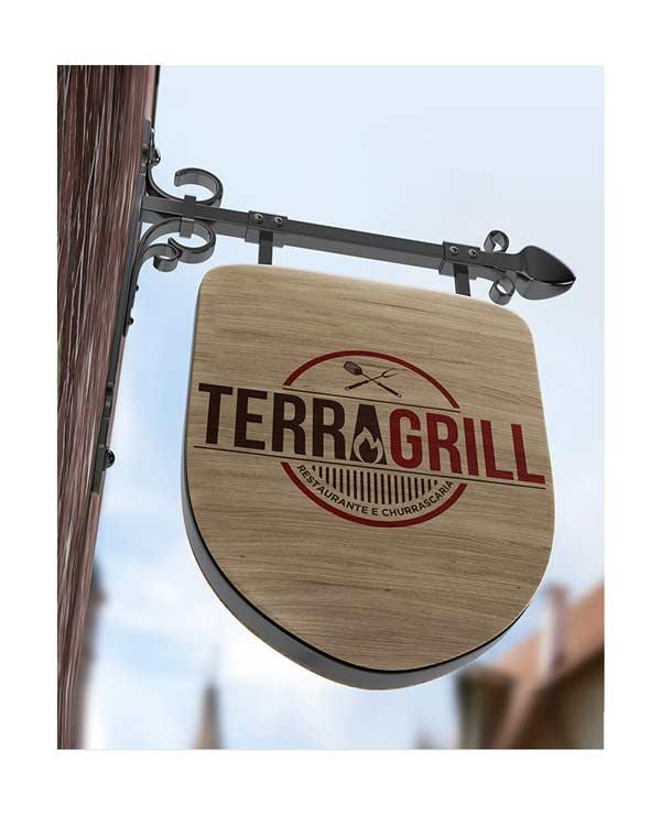 placa de sinalizacao de restaurante